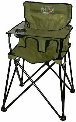 Ciao! Baby Portable High Chair Sage with Carrying Case 1 Pack New