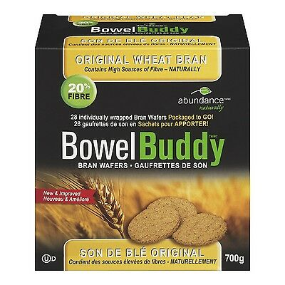 Abundance Naturally Bowel Buddy Bran Wafers - Original Wheat 700 Gram New