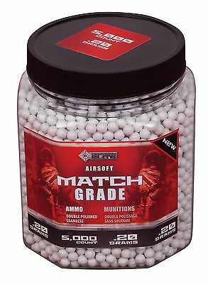 Crosman AirSoft 5000-Count Bottle White Heavy AirSoft BBs New