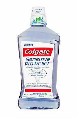 Colgate Sensitive Pro Relief Mouthwash Soothing Fresh Mint 1000ml New
