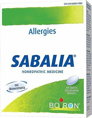 Boiron Sabalia for Hay Fever 60 Count New