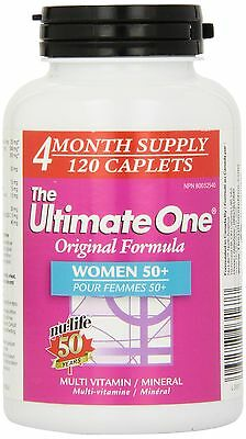 Nu-Life The Ultimate One Original Women 50 Plus Caplets 120 Count Bottle New