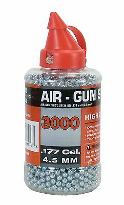 Swiss Arms Steel BB's 3000 rounds 0.177 (4.5 mm cal) Silver New
