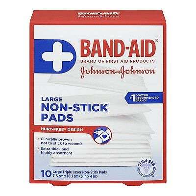 Johnson's First Aid Non Stick Easy Release Pad 7.5 cm by 10 cm New