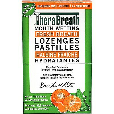 TheraBreath Dentist Recommended Dry Mouth Lozenges Mandarin Mint Flavor 7... New
