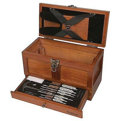 Outers 25-Piece Universal Wood Gun Cleaning Tool Chest New
