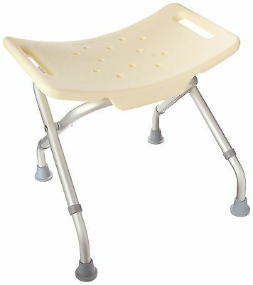 DMI Lightweight Folding Bath and Shower Seat Adjustable Height White New