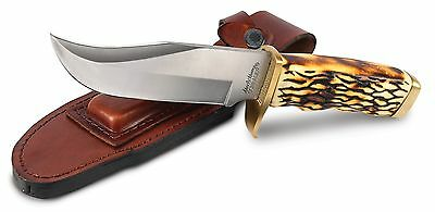 Uncle Henry 171UH Large Pro Hunter Rat Tail Tang Fixed Blade Knife New