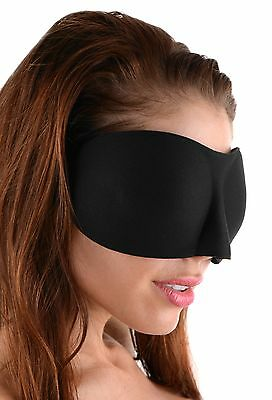 Frisky AD310 Deluxe Black Out Blindfold Sleep Mask New
