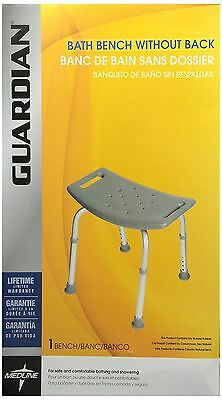 Medline Bath Bench without Back Gray New