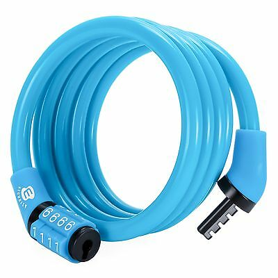 Etronic Security Lock M4 Self Coiling Cable-Lock 4-Feetx5/16-Inch New