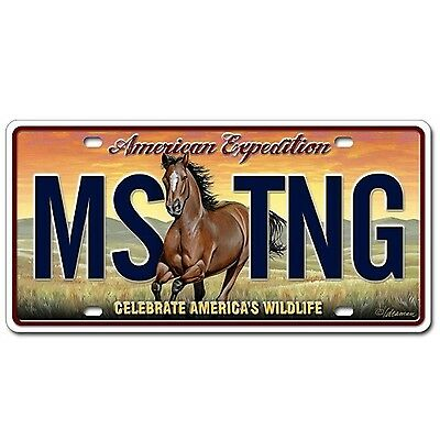 Alps Mountaineering LCNS-110 American Expedition Mustang License Plate New