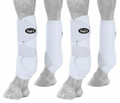 Tough 1 Extreme Vented Sport Boots Set White Small New
