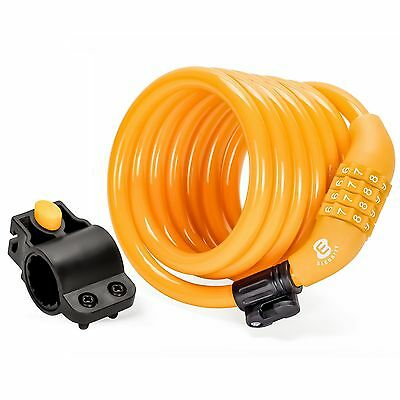 Etronic M6 Self Coiling Resettable Combination Security Cable Lock 6-Feet... New