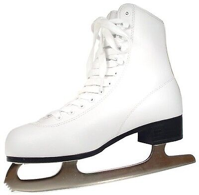 American Athletic Shoe Women's Tricot Lined Ice Skates White 8 New