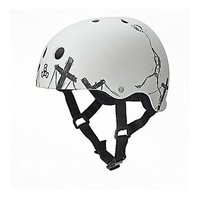 Triple Eight 1261 Balloon Robot Special Edition Helmet White Small New