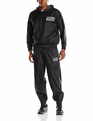 TITLE Boxing  TITLE Pro Hooded Sauna Suit Black X-Large New