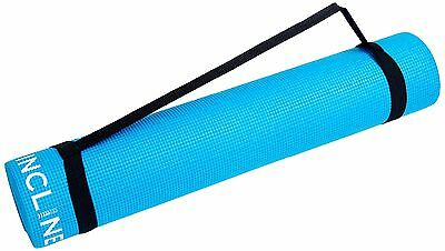 Incline Fit High Density Anti-Slip Exercise Yoga Mat Marine BlueWith Strap New