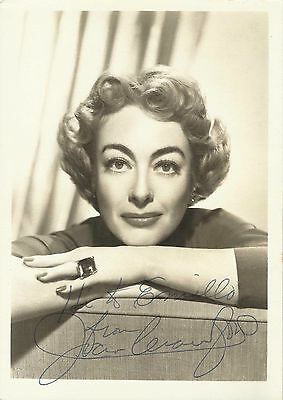 "JOAN CRAWFORD in ""Torch Song"" Original Signature HANDSIGNED PORTRAIT 1953"