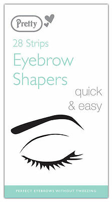 Pretty Smooth Eyebrow Shapers Wax Strips - Pack of 28 - Perfect for waxing