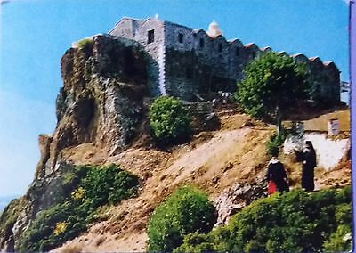 Cyprus postcard: Stavrovouni Monastery, posted with stamps.