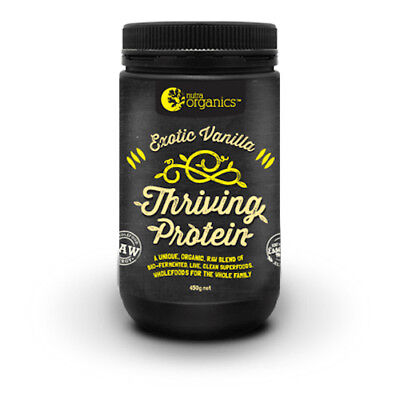 NUTRA ORGANICS THRIVING VEGAN PROTEIN - 450g (ALL FLAVOURS)