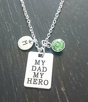 My Dad my Hero Necklace, My Dad my Hero Charm, Daughter Necklace, PERSONALIZED