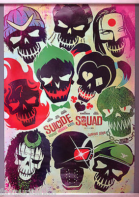 Cinema Poster: SUICIDE SQUAD 2016 (Faces One Sheet) Margot Robbie Joel Kinnaman