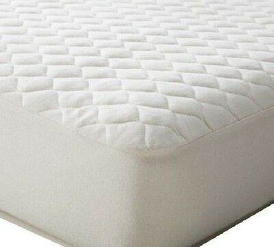 "1 New Quilted Fitted Mattress Pad Elastic Cover Bedding ""queen Size"" Poly Fill"