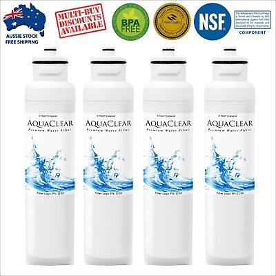 4 x Westinghouse Aqua Crystal Compatible Fridge Water Filter WHE7670SA 762L