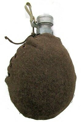 Vintage Bulgarian Canteen with Wool Cover - European Military Surplus