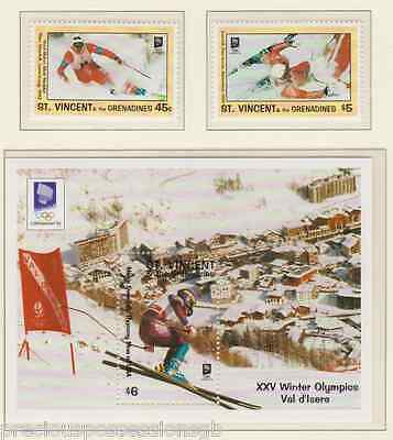 Mnh Olympic Games Stamp Set 1994 Lillehhammer Olympics St Vincent & Grenadines