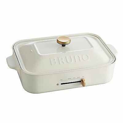 BRUNO compact hot plate White Takoyaki Plate Griddle BOE021-WH New free shipping