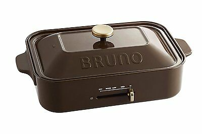 BRUNO compact hot plate Brown Takoyaki Plate Griddle BOE021-BR New free shipping