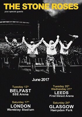 THE STONE ROSES June 2017 UK Tour PHOTO Print POSTER Band Wembley Glasgow 020