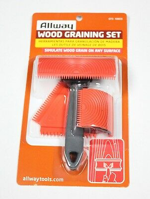 Allway Tools Gt3 Wood Graining Kit 3 Pc Set, Simulate Wood With Paint Free Ship