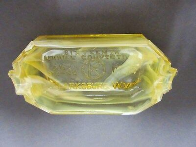 Rare Akro Agate Transparent Kiwanis Ashtray