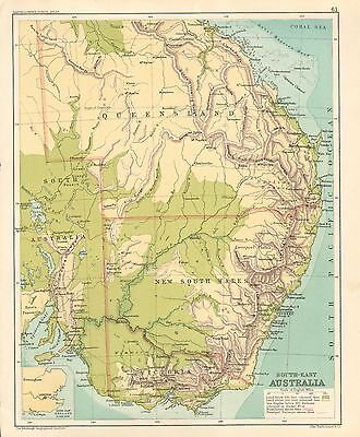 Map South East Australia.1891 Victorian Map South East Australia New South Wales