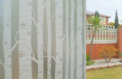 90 CM x 1.5 M - Tree Removable Frosted Window Glass Film for privacy