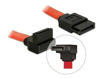 Delock SATA II 7pin data cable 22cm angled down / straight red speed up to 3Gbps