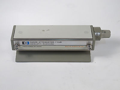 HP 8494A Manual Step Attenuator 11dB DC-18GHz Opt. 002 SMA