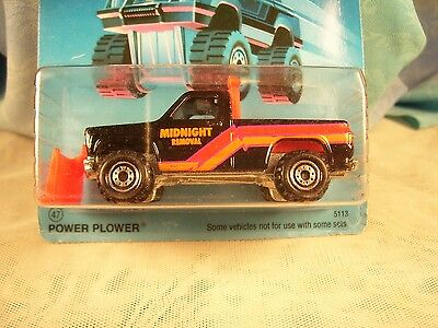 Hot Wheels--Trailbusters--Power Plower--1986 Experimental Card