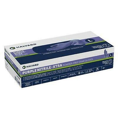 Purple Nitrile-Xtra Powder-Free Disposable Gloves - Size L, Model 50603