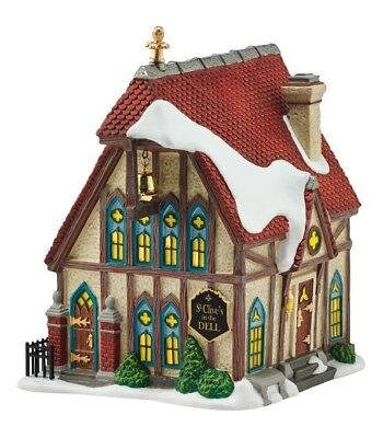 Dept 56 Dickens Village St. Clive's In The Dell Church BRAND NEW