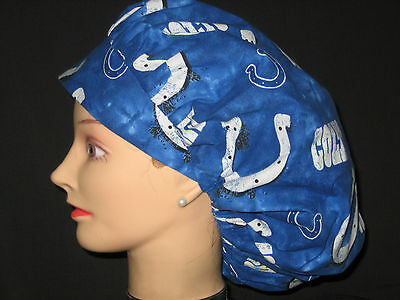 Surgical Scrub Hats/Caps NFL Indianapolis Colts blue with Horseshoes