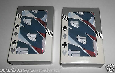 2 Vintage Airplane Jumbo Jet Bridge Playing Cards - Graphica Sealed Decks - RARE