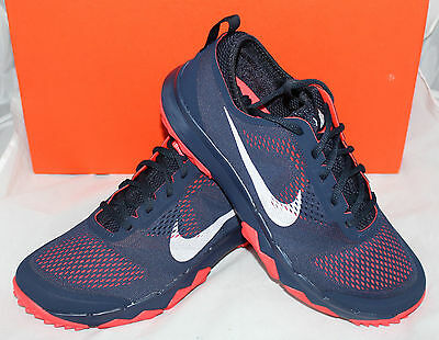 Nike F1 Bermuda Mens Golf Shoes - Navy Blue Crimson Red - New in Box