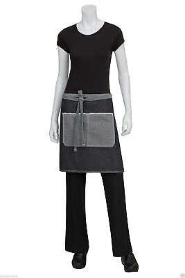 Adults Plain Urban Denim Apron | Cafe Kitchen Bistro Half Waist | Pocket | AW044