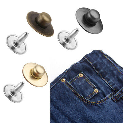 100 Sets Rivets Fasteners Studs Button Sewing Leather Craft Bag Jeans Repair