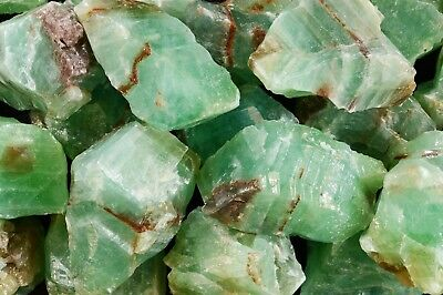 "Emerald Green Calcite 2 1/2"" Healing Crystal Heart Chakra Reiki Natural Stone"